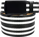 SlideBelts Canvas Belts (Zebra with Matte Black Buckle)