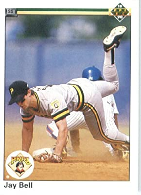 1990 Upper Deck # 517 Jay Bell Pittsburgh Pirates - MLB Baseball Trading Card