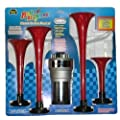 Wolo Model  445 Plastic Four Trumpet Musical Air Horn Kit , Plays Call To The Post Song - 12 Volt