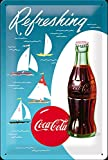 Tin Sign 20 x 30 cm - Coca Cola - Sailing Boats