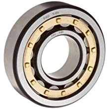 FAG Cylindrical Roller Bearing, Single Row, Semi-Locating, Reinforced Roller Set, Separable, Brass Cage, C3 Clearance, Metric