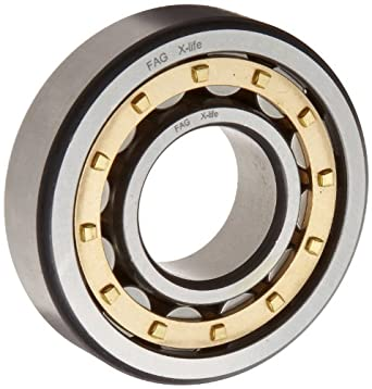 FAG NJ212E-M1-C3 Cylindrical Roller Bearing, Single Row, Straight Bore, Removable Inner Ring, Flanged, High Capacity, Brass/Bronze Cage, C3 Clearance, Metric, 60mm ID, 110mm OD, 22mm Width