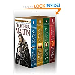 A Song of Ice and Fire, Books 1-4 (A Game of Thrones A Feast for Crows A Storm of Swords Clash of Kings) by George R.R. Martin