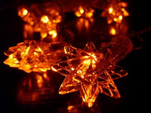 Orange Tree Trade Orange Star Led String Lights; Led Christmas Lights; Party Lights
