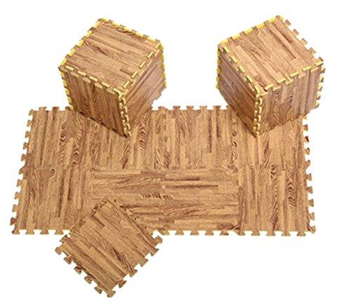 Bigood 9tlg. Spielmatte Kinderteppich Puzzlematte Spielteppich Schaumstoffmatte Farbig Bilder des Staemm