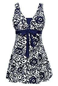 WantDo Women's Swimsuit Plus Size Swimwear One-Piece Bathing Suit(FBA)