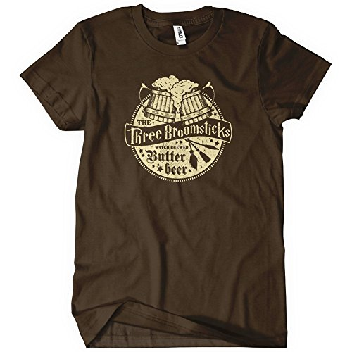 The Three Broomsticks Mens Funny T-Shirt Tee Harry Butter Potter Beer Wizard (Beer Nerd compare prices)