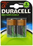 Duracell Rechargeable C Size Batteries - Pack of 2