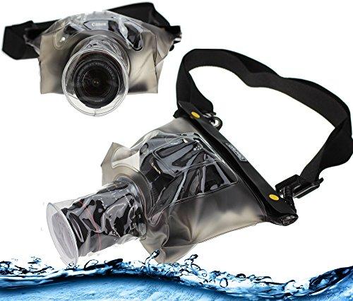Navitech housse étui étanche pour appareil photo numérique avec lentille extérieure, compatible pour Nikon D3200