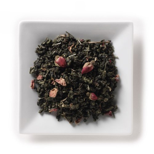 Mahamosa Flavored Oolong (Wu Long, Wulong) Tea Blend And Tea Infuser Set: 2 Oz Rose Oolong Tea, 1 Stainless Steel Tea Ball Infuser (Bundle- 2 Items)(Tea Ingredients: Oolong Tea, Lemongrass, Rose Buds, Rose Petals With Rose, Lemon And Ginger Flavor)