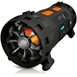 Pyle PBMSPG200 Street Blaster X High-Power Rugged and Portable BoomBox Speaker System, Bluetooth, NFC Wireless, USB Recording