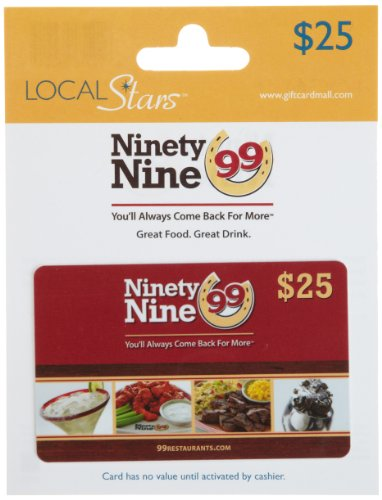 Ninety Nine Restaurants Gift Card $25
