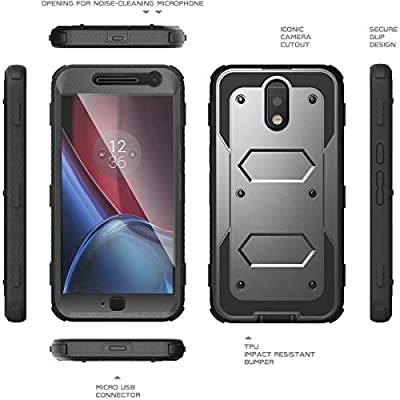 MOTO G4 Case,MOTO G4 Plus Case, KASEMI [Built in Screen Protector] Heavy Duty Protection Dual Layer Full-body Rugged Combo Locking Belt Swivel Clip Holster Cover with Kickstand Case for Motorola Moto G 4th Generation from KASEMI