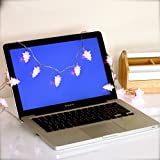 Frozen Theme Party USB Powered Christmas Tree Fairy Lights with 20 Pink LEDs