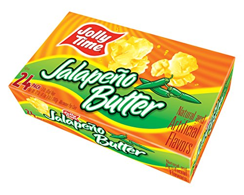 Jolly Time Jalepeno Butter Spicy Gourmet Hot Pepper Microwave Popcorn, 24 Count (Gourmet Popcorn Microwave compare prices)