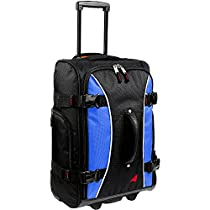 Athalon Luggage 21 Inch Hybrid Travelers Bag (One Size, Sea Blue/Black)