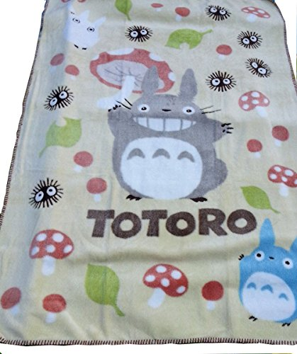 "Winterworm® 60""*42"" Studio Ghibli My Neighbor Totoro Soft Blanket Children Baby Coral Fleece Bath Towel Sleeping Cover (Yellow Mushroom)"