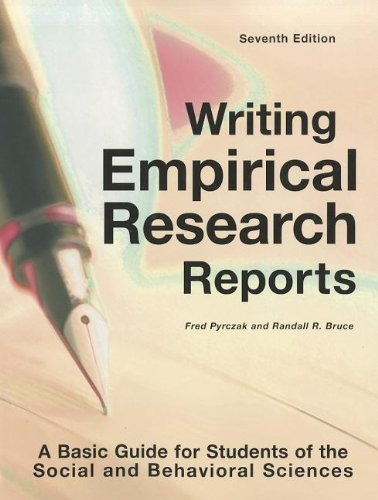 Writing Empirical Research Reports: A Basic Guide for...