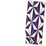 二尺袖着物 単品【パープル 紫×生成り/大きなモダン麻の葉 10759】洗える お仕立て上がり