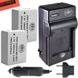 BM Premium 2-Pack Of NB-7L Batteries & Battery Charger Kit for Canon PowerShot G10 G11 G12 SX30 IS Digital Camera Includes Battery + AC/DC Battery Charger
