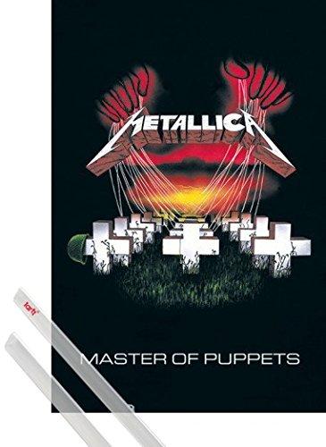 Poster + Sospensione : Metallica Poster Stampa (91x61 cm) Master Of Puppets E Coppia Di Barre Porta Poster Trasparente 1art1®