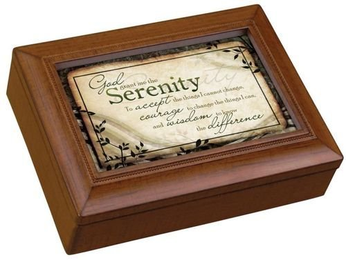 Carson Home Accents 17992 Serenity Prayer Rectangle Music Box, 8-Inch by 6-Inch by 2-3/4-Inch – Jewelry Music Boxes