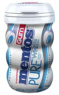 Mentos Gum Big Bottle Curvy, Pure Whi…