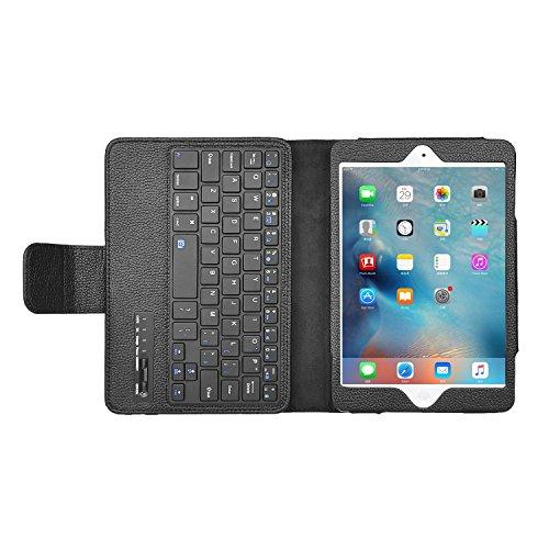 Apple iPad Mini 4 ケース,選べる5色IVSOオリジナルApple iPad Mini 4 専用カバー スマートケース 超薄型 最軽量 -Apple iPad Mini 4 専用ケース (APPLE iPad Mini 4, キーボード)