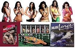 Manforce Multi Sample Combo Condoms Moods Kamasutra,27 Piece