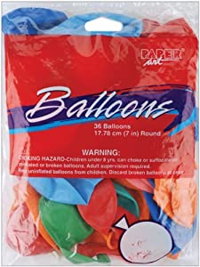 "Balloons Round 7"" 36/Pkg: Assorted Colors from Creative Expressions"