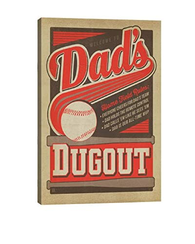 Anderson Design Group Dads Dug Out Canvas Print, Multi, 26 x 18