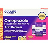 Omeprazole Acid Reducer, Delayed Release, 20mg 42ct, By Equate