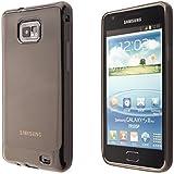 Ecence Silikon TPU Case für Samsung Galaxy S2 i9100/S2 Plus i9105 schwarz