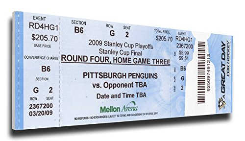 That's My Ticket 2009 NHL Stanley Cup Mega Ticket Wall Decor, Pittsburgh Penguins