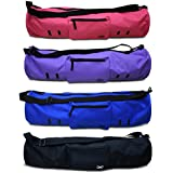 """Yoga[Addict]™ Yoga Mat Bag """"Compact"""" With Pockets, 28"""" Long, Fit Most Mat Size, Extra Wide, Adjustable Strap, Easy Access, Satisfaction Guarantee"""