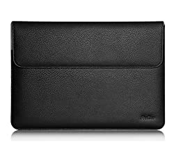 Microsoft Surface Book Case Sleeve, ProCase Wallet Sleeve Case for 13.5 inch Surface Book Tablet Laptop, Compatible with Surface Book Keyboard and Surface Pen (Black)