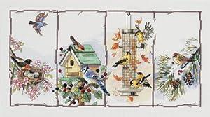 Janlynn Counted Cross Stitch Kit, 4 Seasons Birds