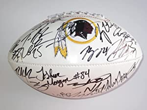 2012 Washington Redskins Team Signed Football Certificate of Authenticity with Proof... by Riddell