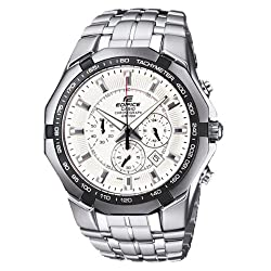 Casio Edifice Chronograph White Dial Mens Watch - EF-540D-7AVDF (ED373)