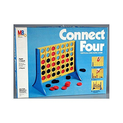 Connect Four Vertical Checkers Game By Milton Bradley 1978