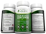 Turmeric Curcumin Capsules ★ 100% MONEY BACK GUARANTEE ★ - with BioPerine Black Pepper Extract - Aids Absorption - Without This it Wont Work. 120 Vegetarian 500mg Turmeric Supplement, 95% Curcuminoids For MAXIMUM Strength with No Fillers, Binders or Artificial Ingredients From Purely Holistic