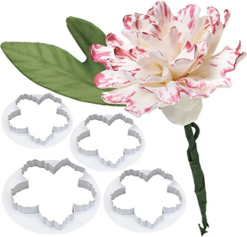 Bihood Peony Flower Petal Fondant Sugarcraft Cake Cookie Cupcake Maker for Kids Cutter Babycakes Cupcake Maker for Girls Cupcakes Maker Girl Gourmet Cupcake Maker Decorating Mould 4 PCS (Hostess Cupcakes Maker compare prices)