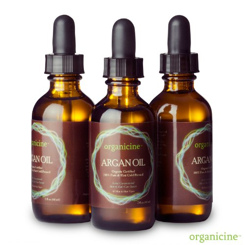 100% Moroccan Argan Oil - Virgin Argan Oil - Natural Treatment for Skin, Hair, Body, Nails - Pure Natural Anti-aging Skin Care Product - Ecocert Certified Organic - Anti-wrinkle Reduces Fine Lines - Daily Hair Moisturizer Repairs Damaged Hair - Buy Risk Free
