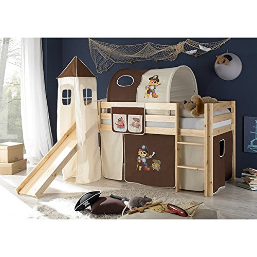 rutschbett kiefer massiv natur en 747 1 747 2 hochbett. Black Bedroom Furniture Sets. Home Design Ideas