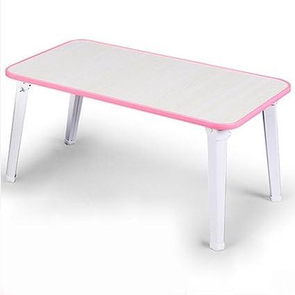 uzi-lazy persone benessere Fashion Classic, impermeabile scrivania per PC portatile, Dormitorio, Tavolo pieghevole per Lazy Pink