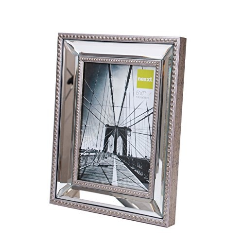 nexxt Sutton Mirrored Picture Frame, 5 by 7 Inch, Champagne (Table Top Picture Frames compare prices)