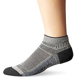 Wigwam Men\'s Ultra Cool-Lite Ultimax Ultra-Lightweight Low Sock, Grey, Large
