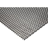 "Online Metal Supply 304 Stainless Steel Perforated Sheet .035"" (20 ga.) x 12"" x 12"" - 1/8"" Holes"