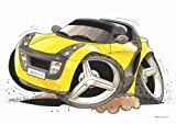 Koolart image ceramic mug Yellow Smart Car Roadster #1668
