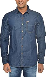 American Bull Men's Casual Shirt (ABSH6010_S, Blue, S)